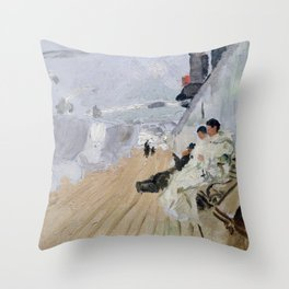 Frits Thaulow Monks on the Deck Throw Pillow