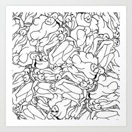 Fifty shades of Love (Light) Art Print