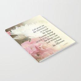 Serenity Prayer Bouquet Notebook