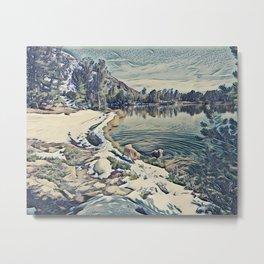 Mountain Lake Trail, California Metal Print