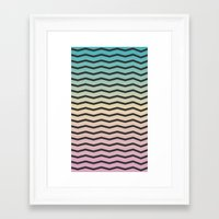 gradient Framed Art Prints featuring Gradient. by Jake  Williams
