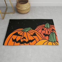 Spooky Pumpkin Patch at Halloween Rug