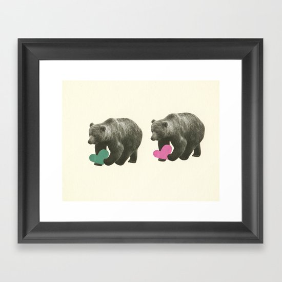 A Bear Romance Framed Art Print