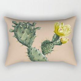 Cactus on Terra Cotta Rectangular Pillow