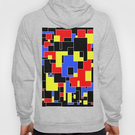 Primary Plans - Abstract, geometric map in primary colours Hoody