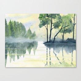 Foggy Morning 2 Canvas Print