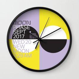 New Moon - Sept 2017 Wall Clock