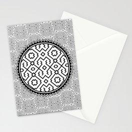 Amazonian Shipibo Pattern black & white Stationery Cards
