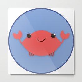 Crab Metal Print