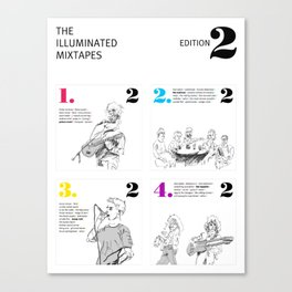 The Illuminated Mixtapes, Edition 2 Canvas Print