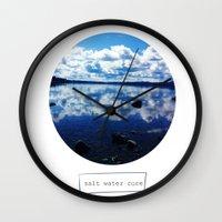 salt water Wall Clocks featuring salt water cure by f5ver