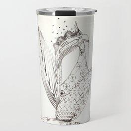 'Embroidered' Iris Travel Mug