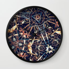 Patterned Pine No:1 Wall Clock