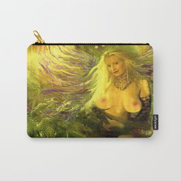 ART  NUDE fairy WOOD NYMPH NUDE fairy,magical in the forest ,gold green ladykashmir, mix,media, Carry-All Pouch