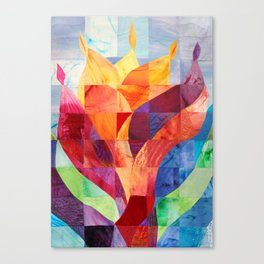 Fire (originally in quilted silk) Canvas Print