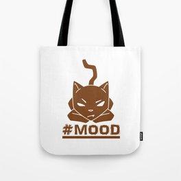#MOOD Cat Brown Tote Bag