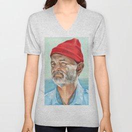 Steve Zissou Bill Murray Painted Portrait Unisex V-Neck