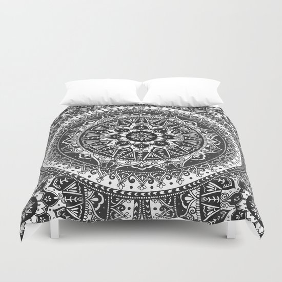 Black And White Mandala Pattern Duvet Cover By Laurel Mae