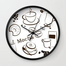 Coffee Background Pattern - 04 Wall Clock