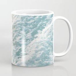 Soft Teal Gold Ocean Dream Waves #1 #water #decor #art #society6 Coffee Mug