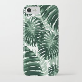 Tropical Monstera Jungle Leaves Pattern #1 #tropical #decor #art #society6 iPhone Case