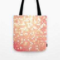 peach Tote Bags featuring Peach by WhimsyRomance&Fun