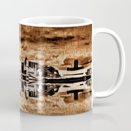 Liverpool Water front Skyline (Digital Art) Coffee Mug