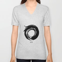 Zen Enso Circle Unisex V-Neck