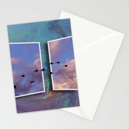 Flying Across Stationery Cards