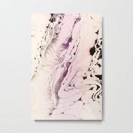 PASTEL MARBLED LIQUID Metal Print