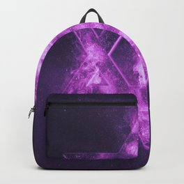 Magen David symbol, Star of David. Abstract night sky background. Backpack