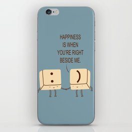 Happy Smile Keyboard Buttons iPhone Skin