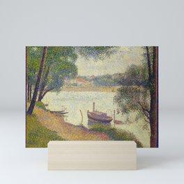 "Georges Seurat ""Gray weather, Grande Jatte"" Mini Art Print"