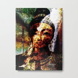 """The River of Creativity Runs Through Her"" Metal Print"