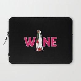 Wine and yoga wine bottle yoga exercise Laptop Sleeve