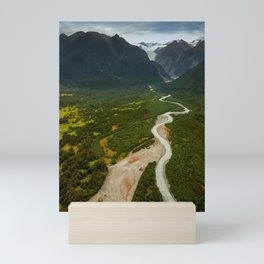 New Zealand - Flying through the Fox Glacier valley Mini Art Print