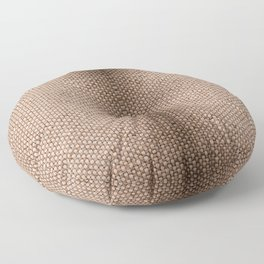 Beige burlap cloth texture abstract Floor Pillow