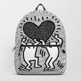Keith Haring - heart Backpack