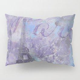 Purple Paris Watercolor Art Pillow Sham
