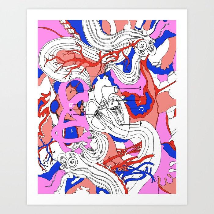 Musical Heart Art Print