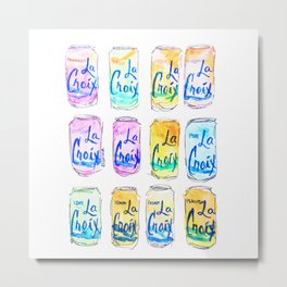 Watercolor La Croix Metal Print