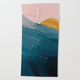 """One Wave At A Time"" Beach Towel"