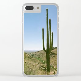 Lonely Cactus Clear iPhone Case