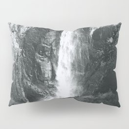 Bridalveil Falls. Yosemite California in Black and White Pillow Sham