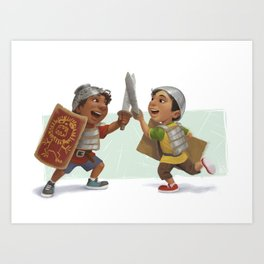 Swordfight! Art Print