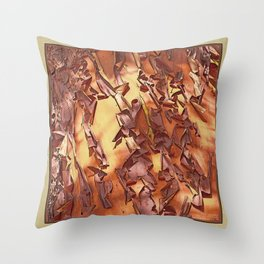 A STUDY OF MADRONA BARK Throw Pillow