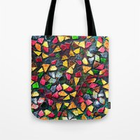mosaic Tote Bags featuring Mosaic by Klara Acel