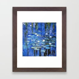waterlilies a la Monet Framed Art Print