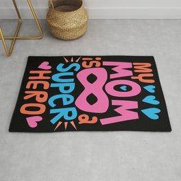 MY MOM IS A SUPER HERO - I Love You MOM Rug
