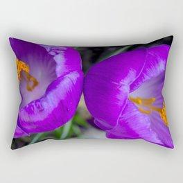 Deep purple and orange crocuses Rectangular Pillow